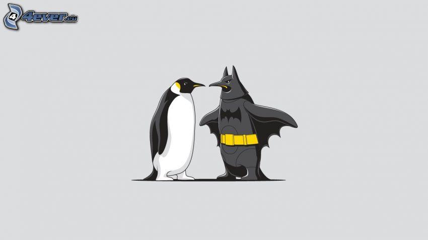 pingüinos, Batman
