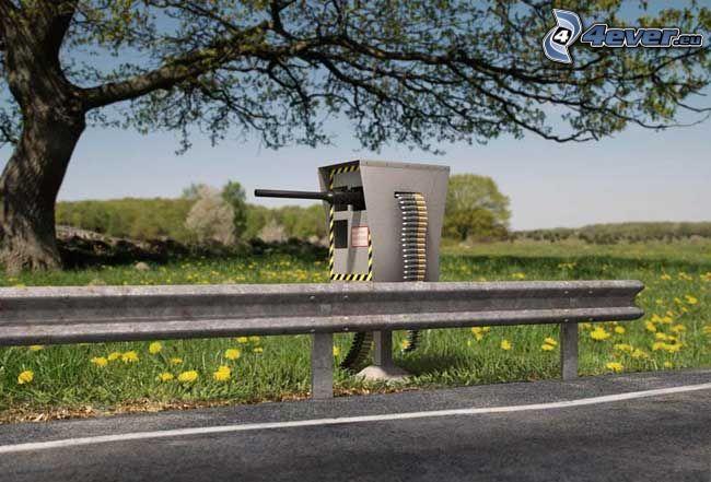 radar tolerancia cero, proyectil, arma