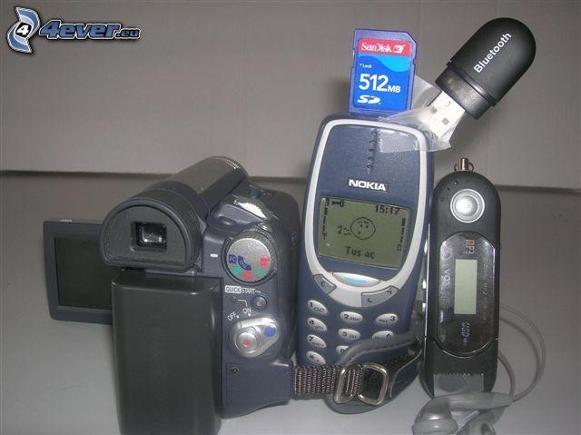 Nokia 3310, cámara, mp3, bluetooth, Tarjeta SD