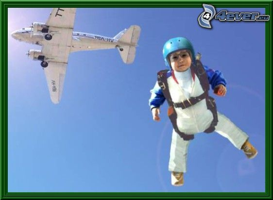 paracaidista, avión