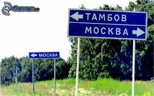 tablero, ciudad, carretera, Moscú
