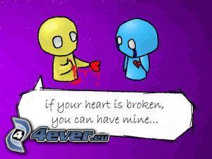 corazón roto, amor