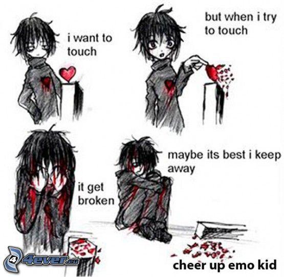 emo, sangre, lesión, herida, tristeza, dolor