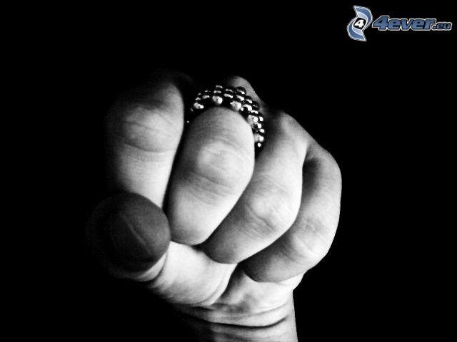 puño, anillo, lucha