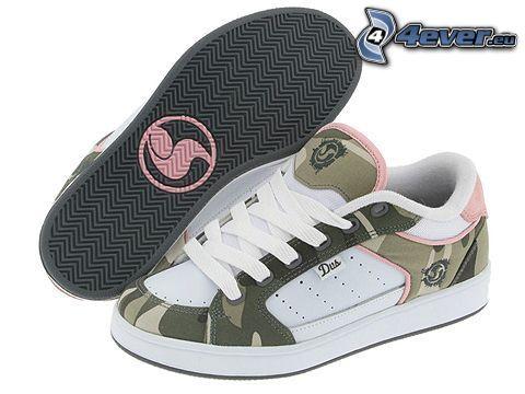 zapatillas de deporte marrones
