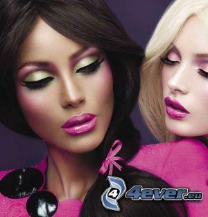 mujer con maquillaje, make-up, productos cosméticos