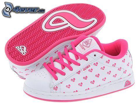 Adio, zapatillas de color rosa