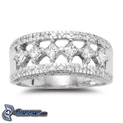 anillo, joya, diamante