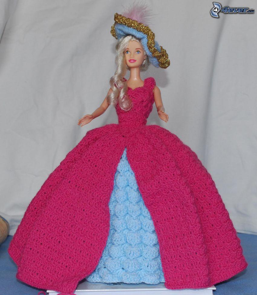Barbie, vestido de color rosa