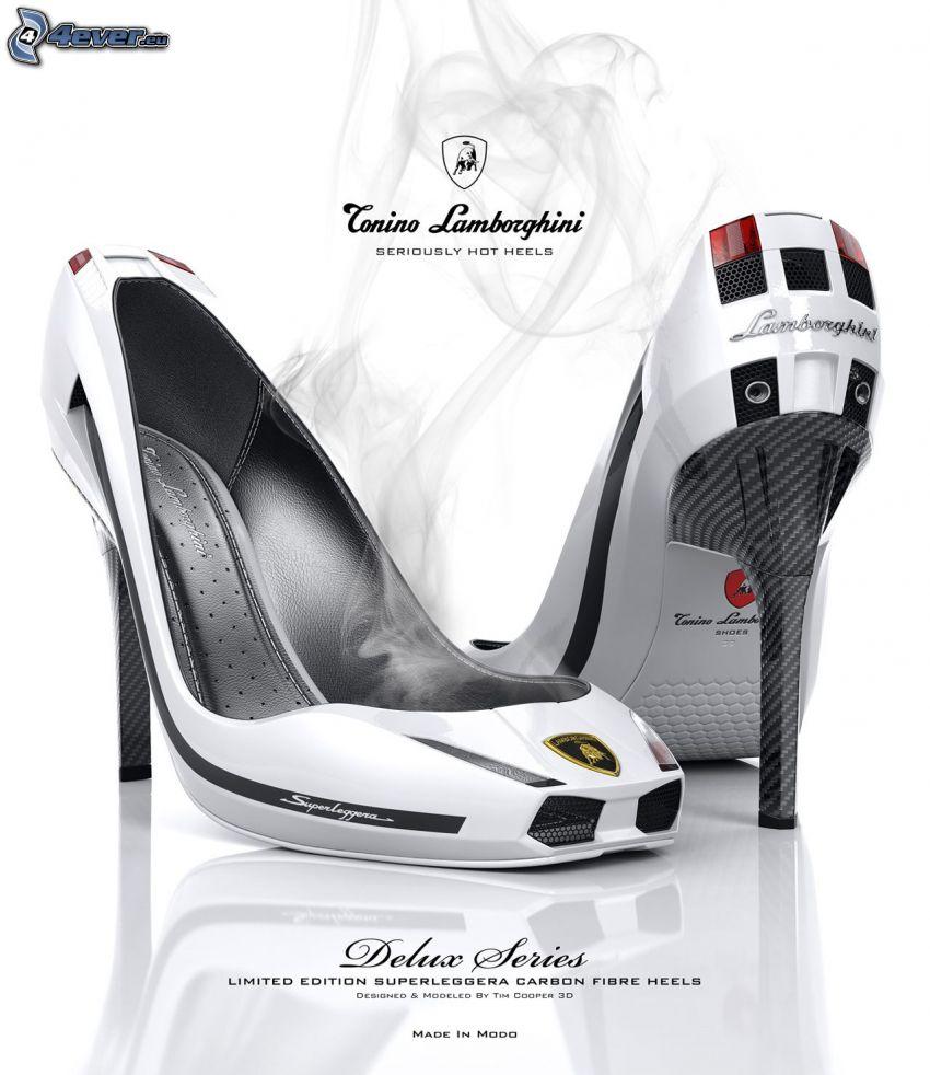 Conino Lamborghini, zapatos con tacón