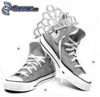 Converse, corona, zapatos deportivos