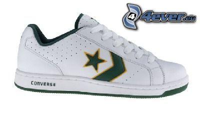 Converse, zapatilla de deporte blanca, estrella