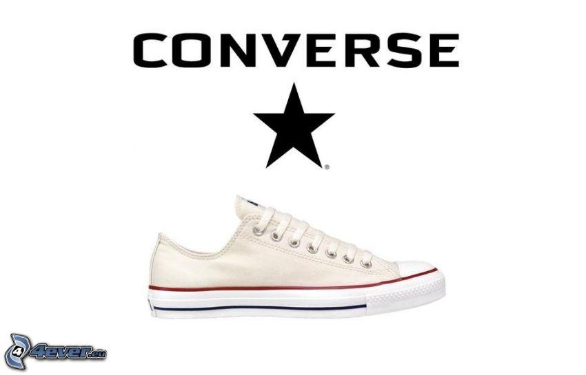 Converse, zapatilla de deporte blanca