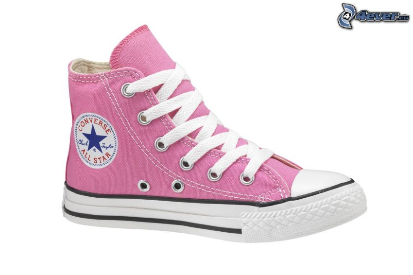 Converse, zapatillas de color rosa