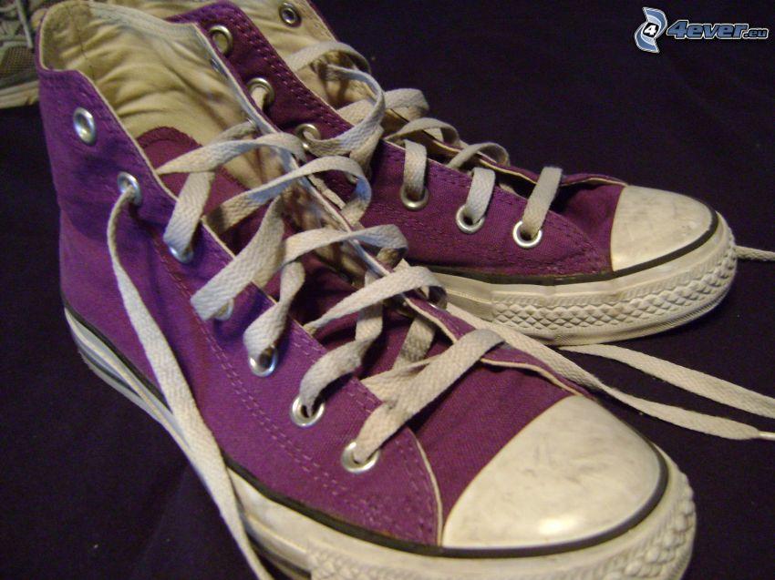 Converse, zapatillas de deporte de color púrpura
