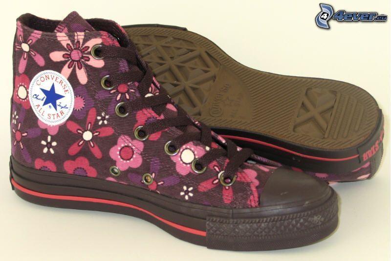 Converse, zapatillas de deporte negras, botas de china