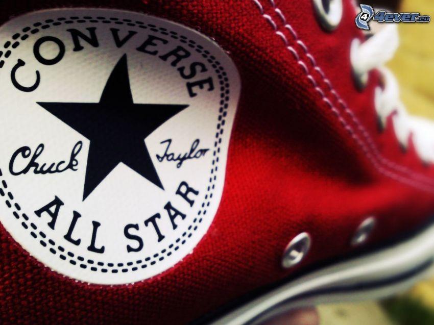 Converse, zapatillas rojas