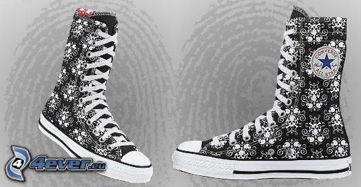 Converse, zapatos deportivos, zapatos, zapato, botas de china, huella dactilar