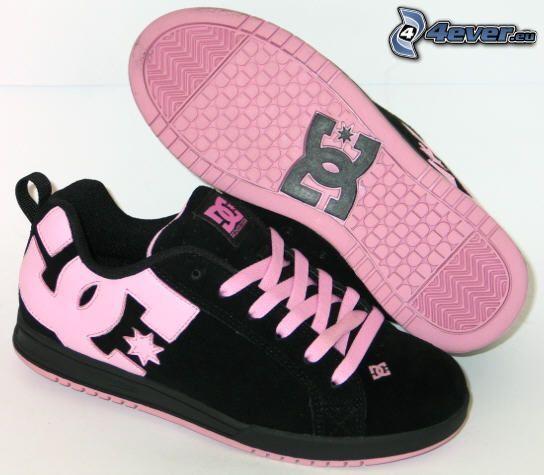 DC Shoes, zapatillas de color rosa