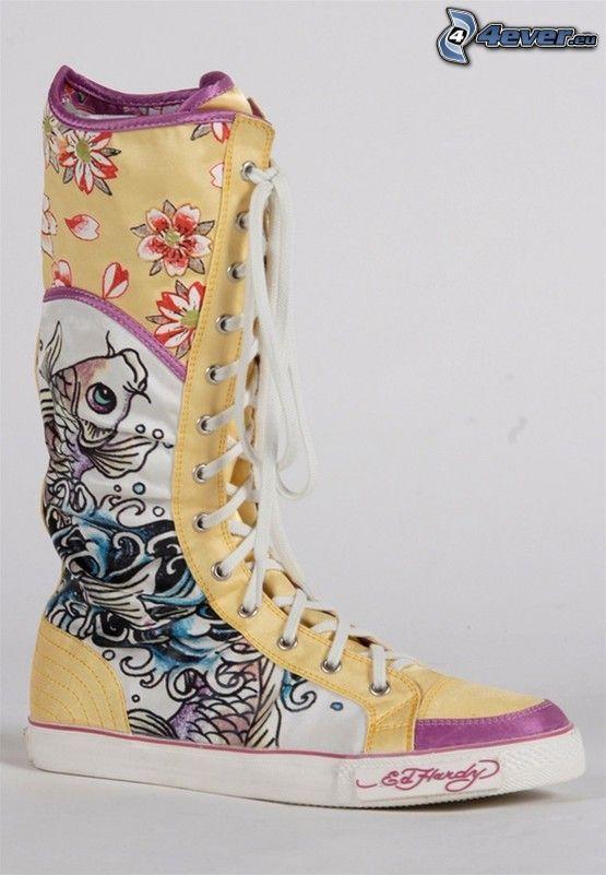 EdHardy, zapatilla de deporte, bota