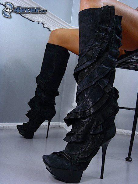 Lorenzi, botas, pies, zapatos, tacones altos