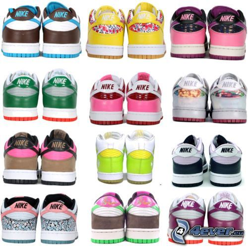 Nike, zapatillas de colores