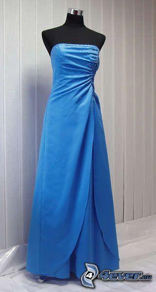 vestido azul, baile