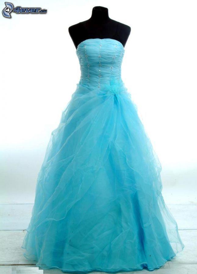 vestido de color turquesa, baile