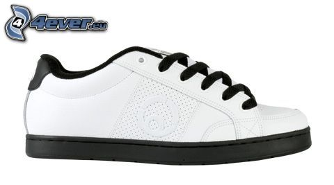 zapatilla de deporte blanca