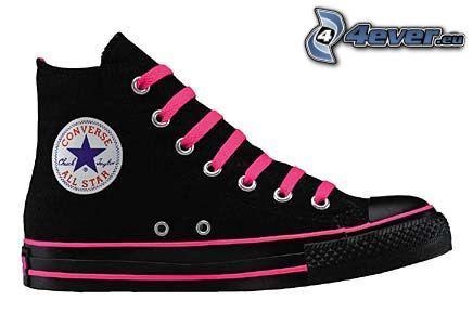 zapatilla de deporte negra, Converse All Star