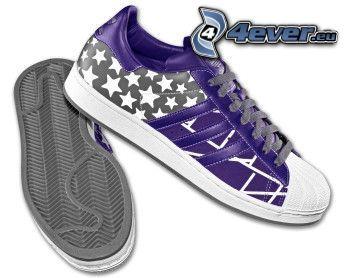 zapatillas de deporte de color púrpura