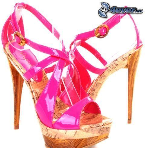 zapato, zapatos, tacón