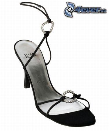 zapato, zapatos de gala, joya, tacón