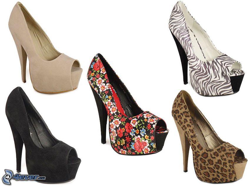 zapatos de gala en plataforma
