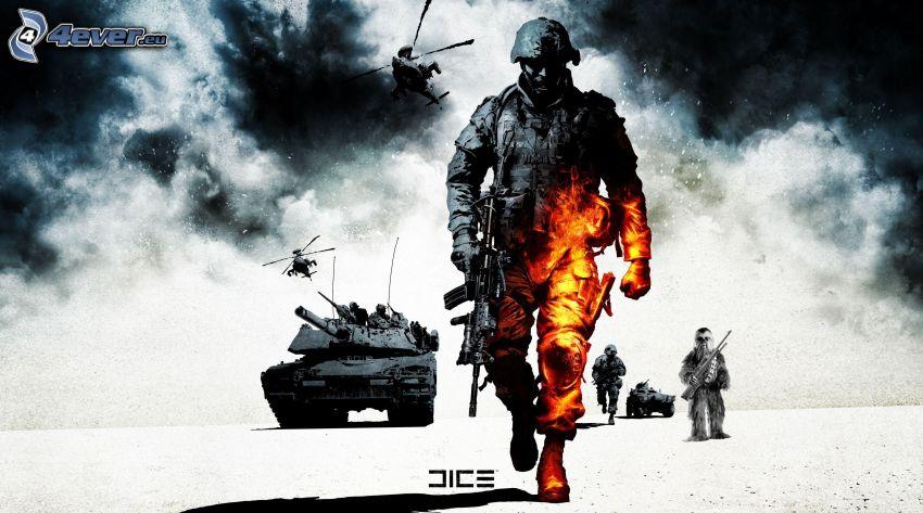 Battlefield 2, soldado, M1 Abrams