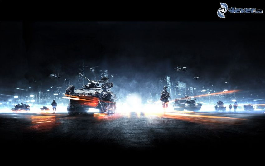 Battlefield 3, tanques, soldados, aviones de caza