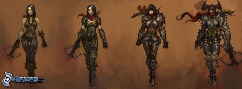 The Demon Hunter, Diablo 3, luchadora anime