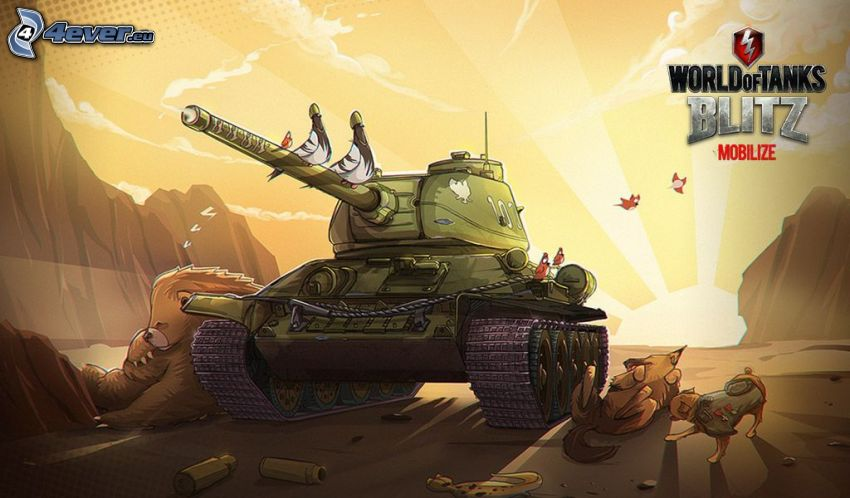 World of Tanks, dibujos animados