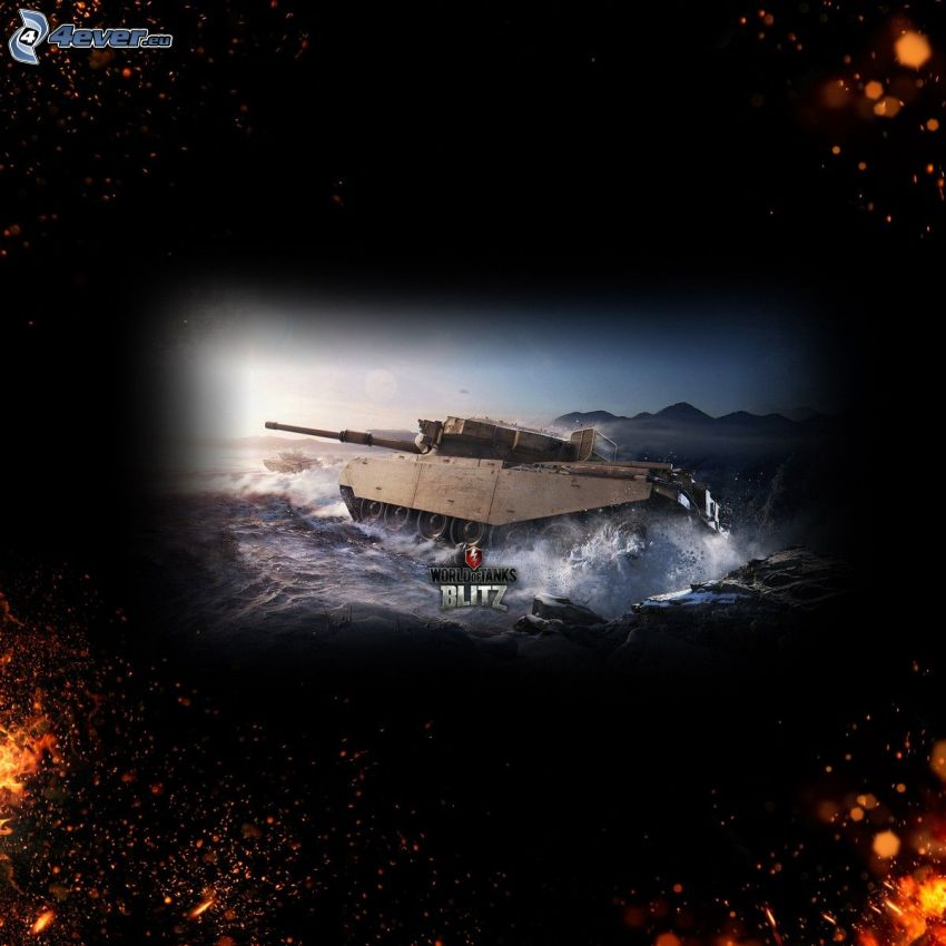 World of Tanks, tanque, agua