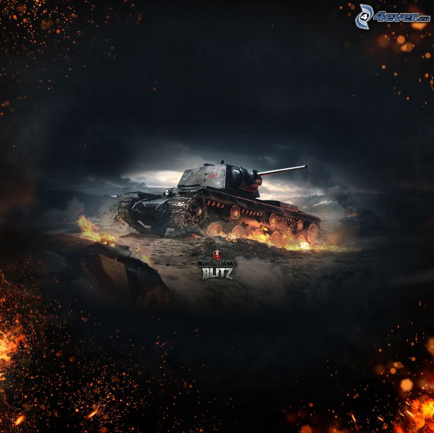 World of Tanks, tanque, incendio