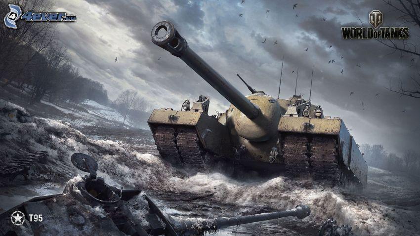 World of Tanks, tanque, inundación