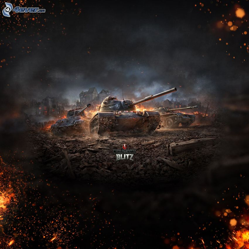 World of Tanks, tanques, batalla