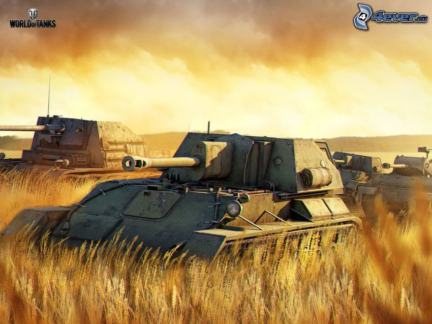 World of Tanks, tanques, campo