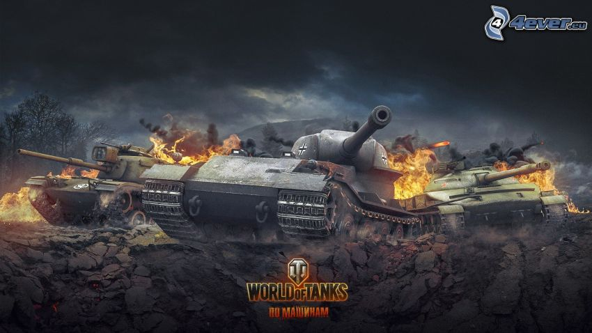 World of Tanks, tanques, fuego