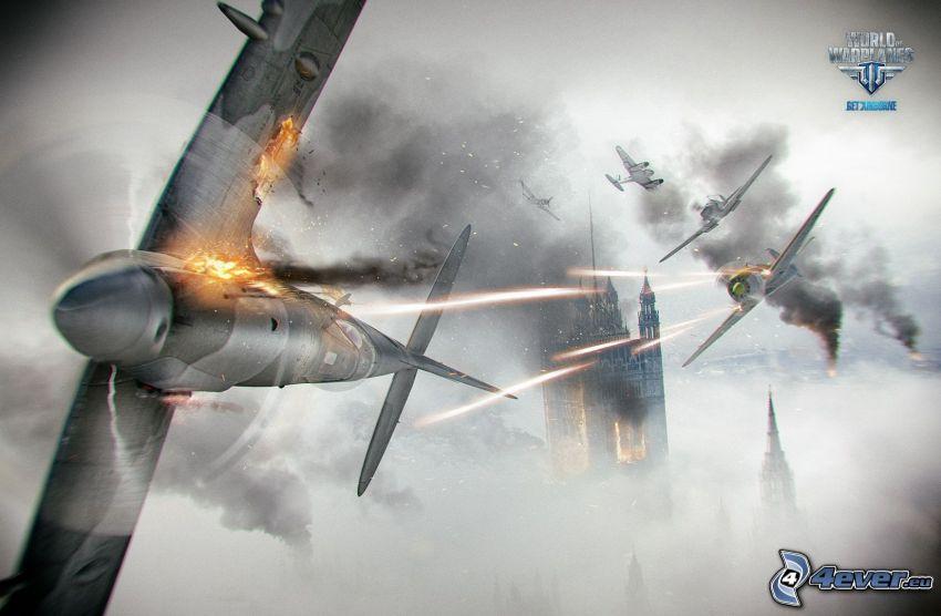 World of warplanes, aviones, disparo