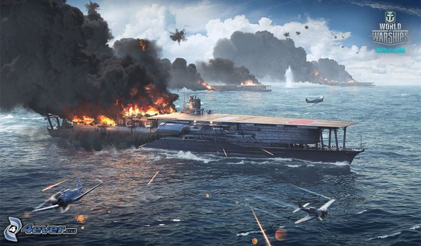 World of Warships, batalla, mar