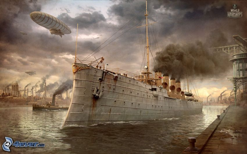 World of Warships, nave, globo dirigible