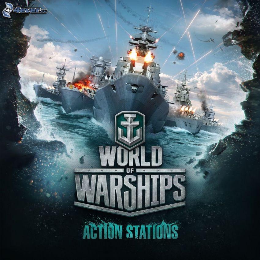 World of Warships, naves, disparo
