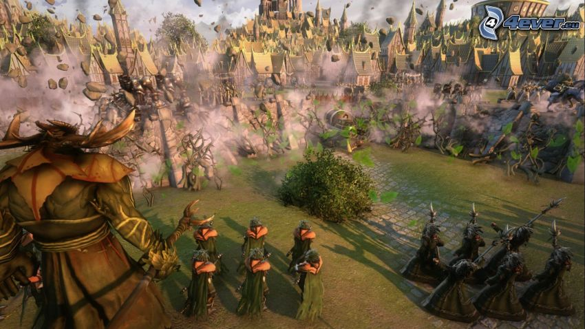 Age of Wonders, paisaje ciencia ficción, caracteres, casas