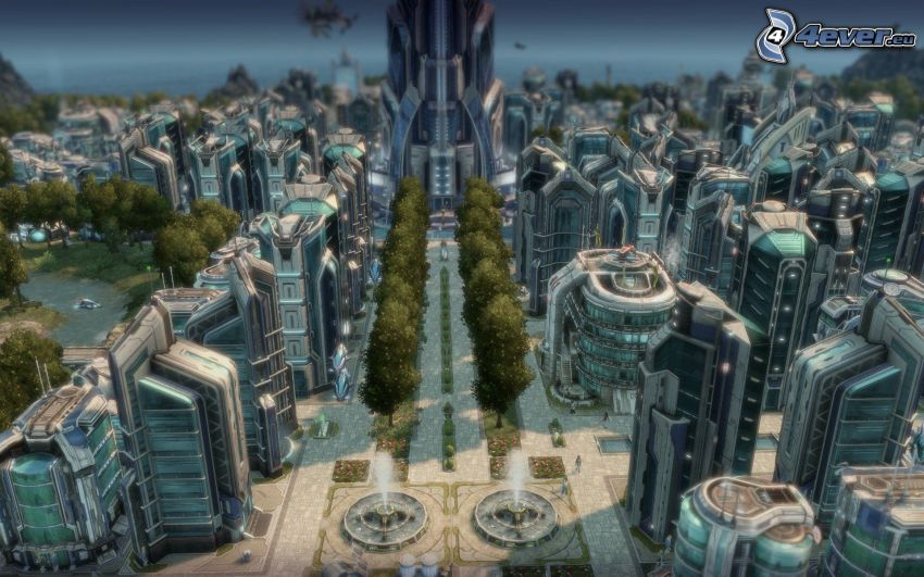Anno 2070, ciudad ciencia ficción